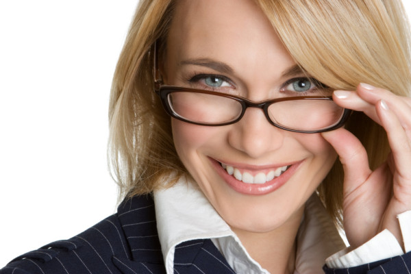 Businesswoman Wearing Glasses